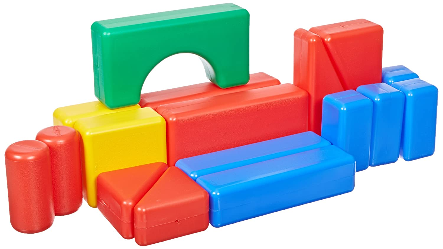 School specialty plastic hollow block 17 pieces baby for Large acrylic block
