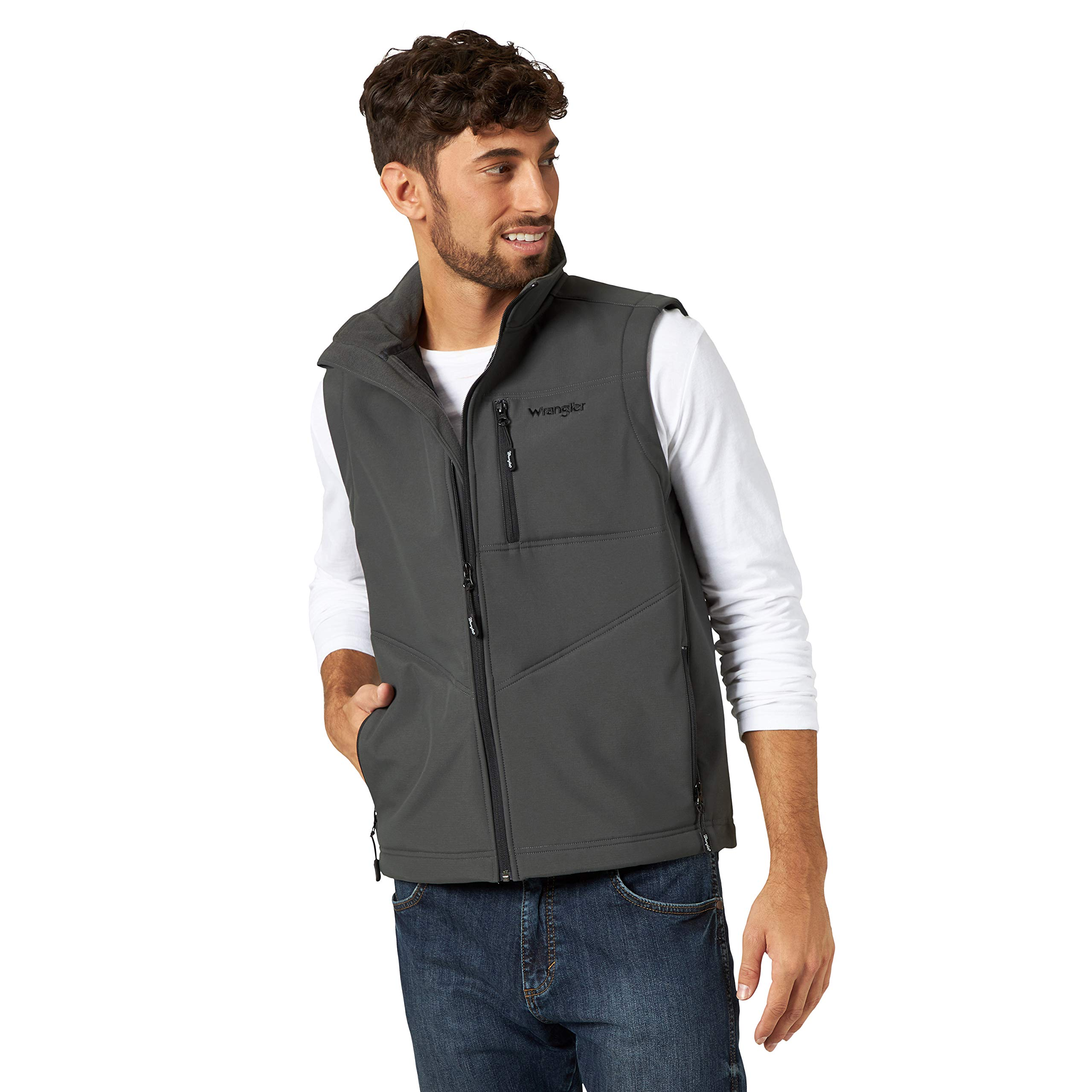 Wrangler Men's Concealed Carry Stretch Trail Vest, Charcoal, 3XT by Wrangler