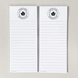 TEA TIME Refrigerator Notepads. Teapot Graphic, Perfect for Grocery List, Notes, To Do Lists and more - SET OF TWO PADS