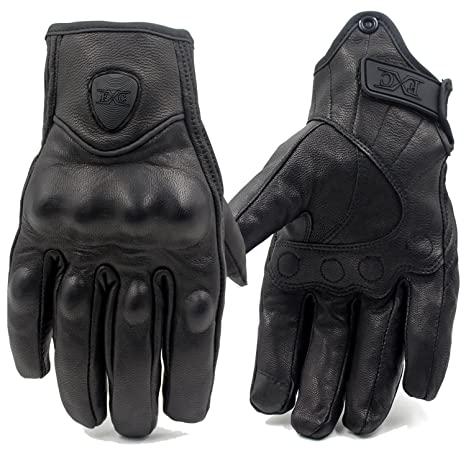 d02b30fe56df1 Amazon.com: FXC Touch Screen Full Finger Motorcycle Leather Gloves Men's  Premium Protective motorbike: Automotive