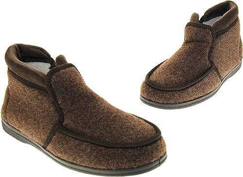 Coolers Men/'s Warm Fleece Lined Microsuede Slipper