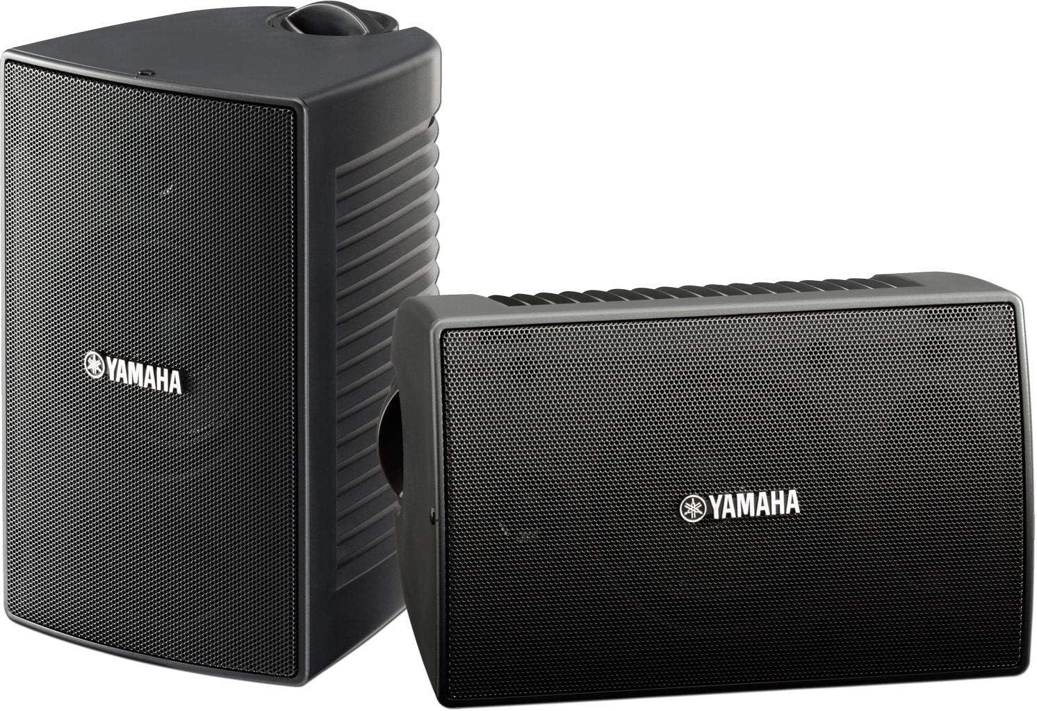Renewed Yamaha NS-AW294BL Indoor//Outdoor 2-Way Speakers Black,2