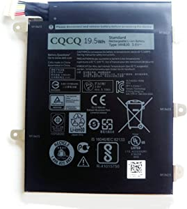 CQCQ HH8J0 Battery for DELL Venue 8 Pro 5855 5845 Tablet Series HH8JO Notebook Laptop (3.8V 19.5Wh/5190mAh)