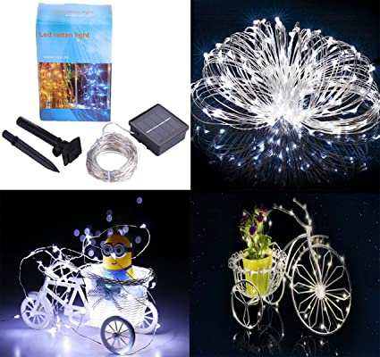 Solar String Power Lights, 72 ft 8 Modes Star Lights, 200 LED Copper Wire  Lights, Waterproof Christmas Garnished Fairy Lights for Party, Wedding,