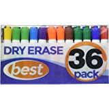 Best Dry Erase Markers (BULK SET OF 36!) in Assorted Colors - Usable on any Whiteboard Surface - Fine Point White Board Pens in 12 Different Colors - Including Black, Neon, Red, Green, Blue, & More