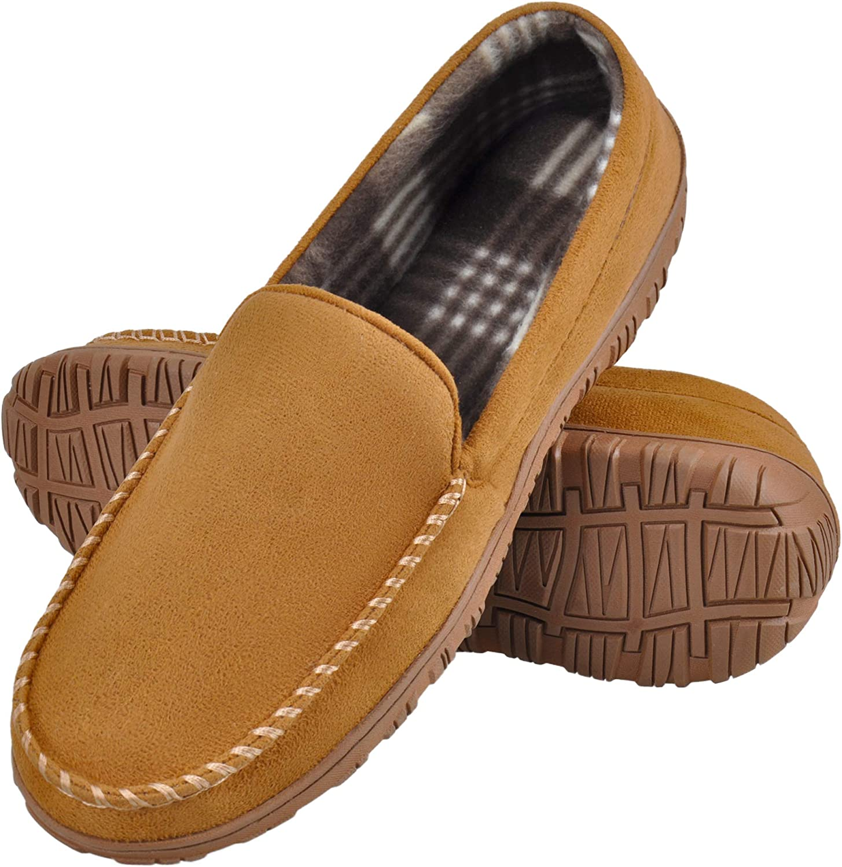 Harebell Men's Slippers Memory Foam Mens Moccasin Slippers Slip on House Slippers for Men