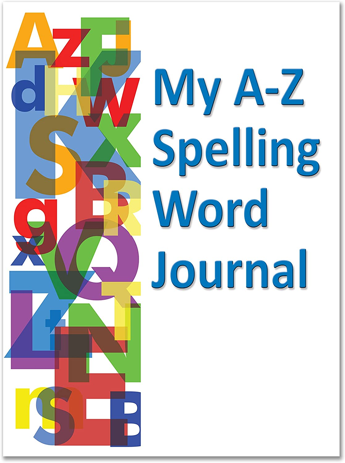 "BookFactory Elementary School Spelling Journal/Classroom Spelling Journal Book - 10 Pack (8.5"" x 11"" - 64 Pages) Saddle Stitched (JOU-064-7CSS-SWJ-(10-Pack)-PJX)"