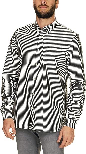 Fred Perry - Camisa Casual - con Botones - Manga Larga - para ...