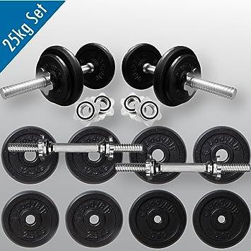 BodyRip 25 kg pesas conjunto 45,72 cm Spinlock Bar y espinazos: Amazon.es: Deportes y aire libre