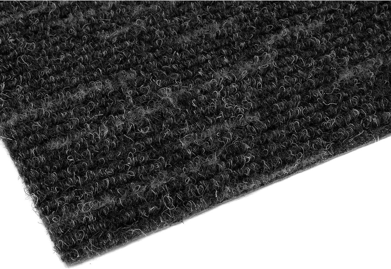 Nadelfilz Meterware Nadelfilz Teppichboden LIGNA Nadelfilzteppich Bodenbelag 4,00m x 1,00m Schwerentflammbar Silber-Grau