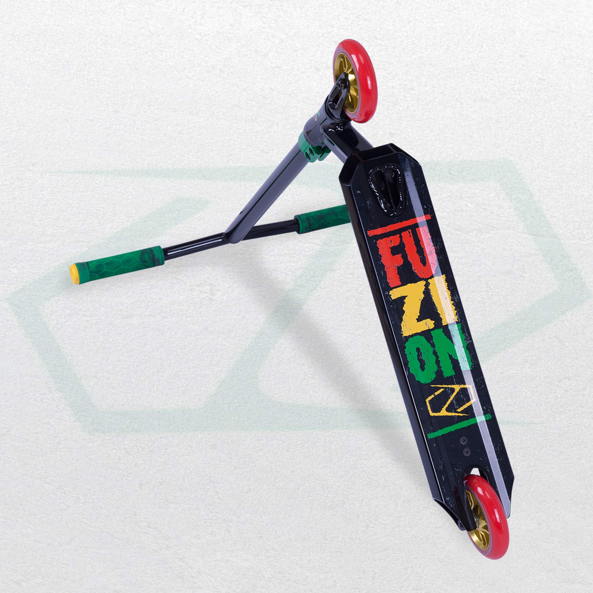 Fuzion Z250 Pro Scooters - Trick Scooter - Intermediate and Beginner Stunt Scooters for Kids 8 Years and Up, Teens and Adults – Durable Freestyle Kick Scooter for Boys and Girls (2019 Rasta) by Fuzion (Image #4)