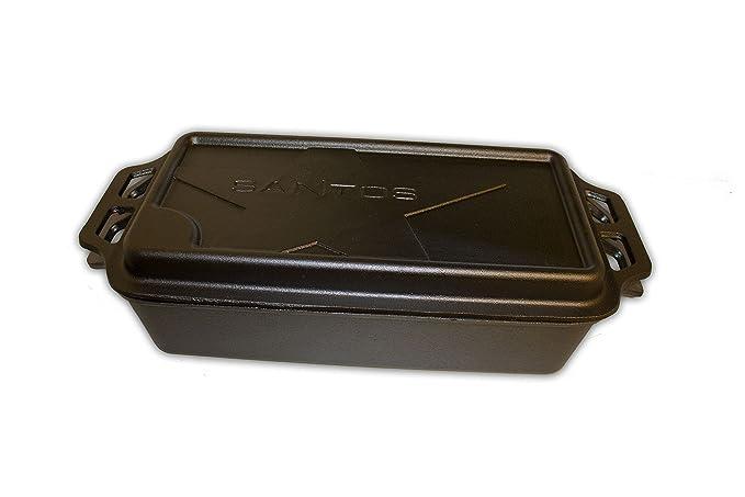 Santos Cazuela de hierro fundido rectangular grande - B Ware Tapa No compatible - de 52,6 x 23,2 cm - Buzón Forma, Baking Pot, Back Cacerola Dutch Oven ...