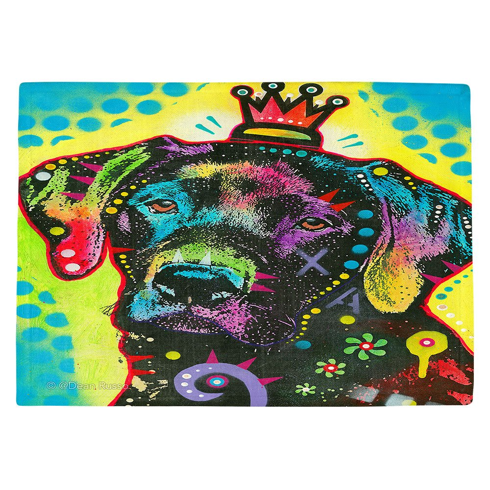 DIANOCHEキッチンPlaceマットby Dean Russo – ラブラドールレトリバー犬21 Set of 4 Placemats PM-DeanRussoLabradorRetriever212 Set of 4 Placemats  B01EXSIFD8