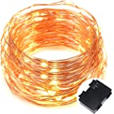Kohree 120 Micro LEDs Fairy String Light Battery Powered on 40 Feet Long Ultra Thin String Copper Wire, Decor Rope Light with Timer Perfect for Weddings, Party, Bedroom, Xmas