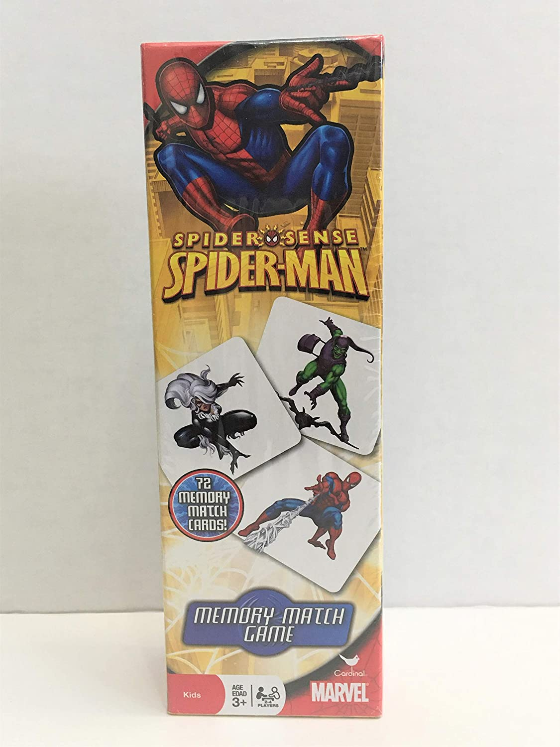 Intended For Ages 3 and Up Cardinal Industries 72 Cards Marvel Spiderman Spider Sense Memory Match Game