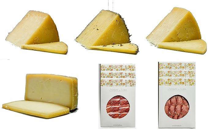 Jamón ibérico de bellota, lomo ibérico de bellota, queso de oveja ...