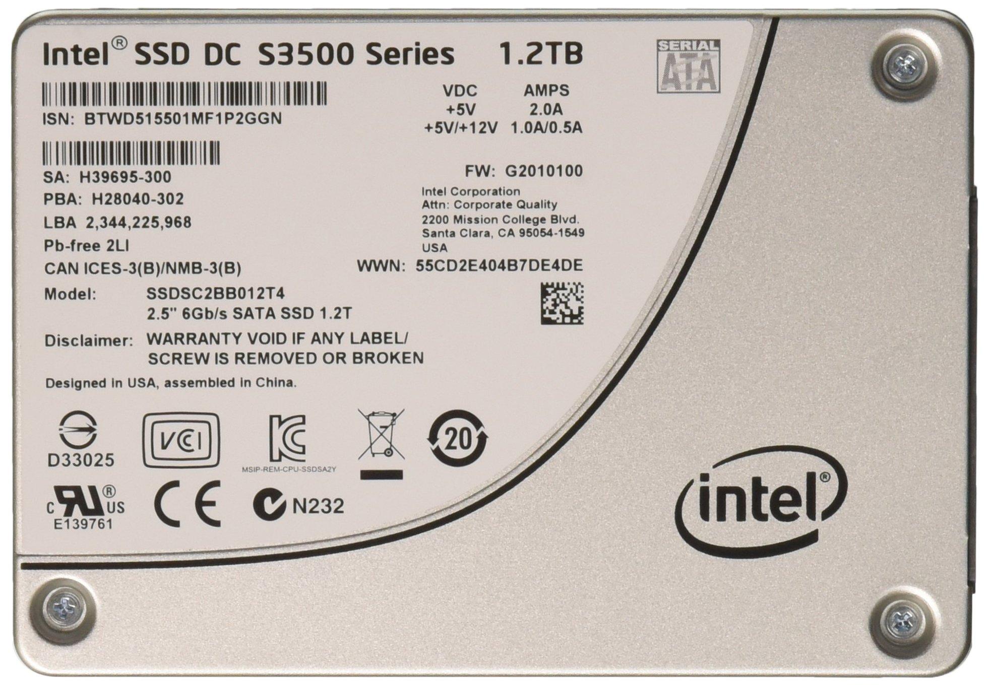 SSD 2TB SATA Intel DC S3500 Series SC2BB012T401 1.2TB 6Gb/s