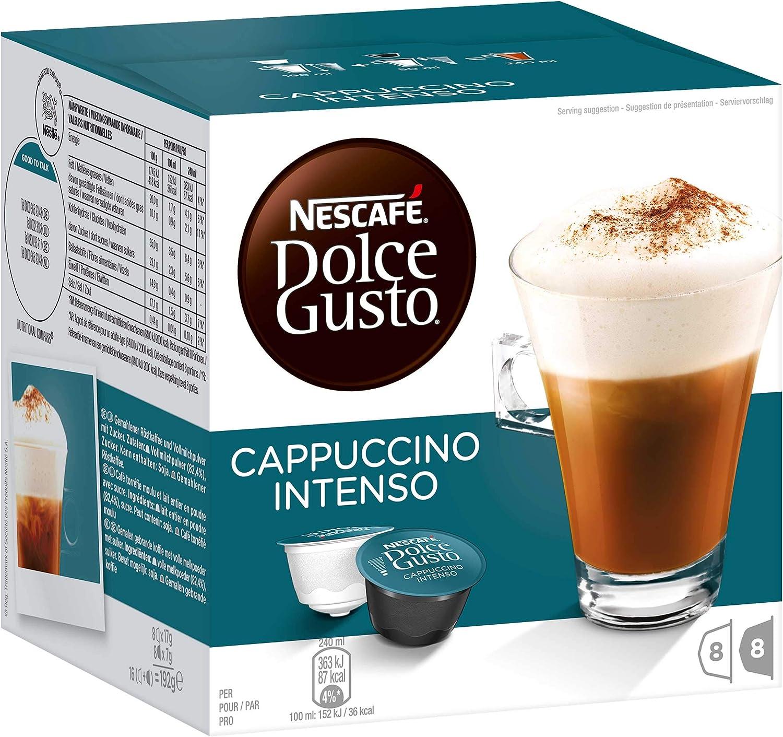Nescafé Dolce Gusto Cappuccino Intenso, Cápsulas, Café con Leche ...