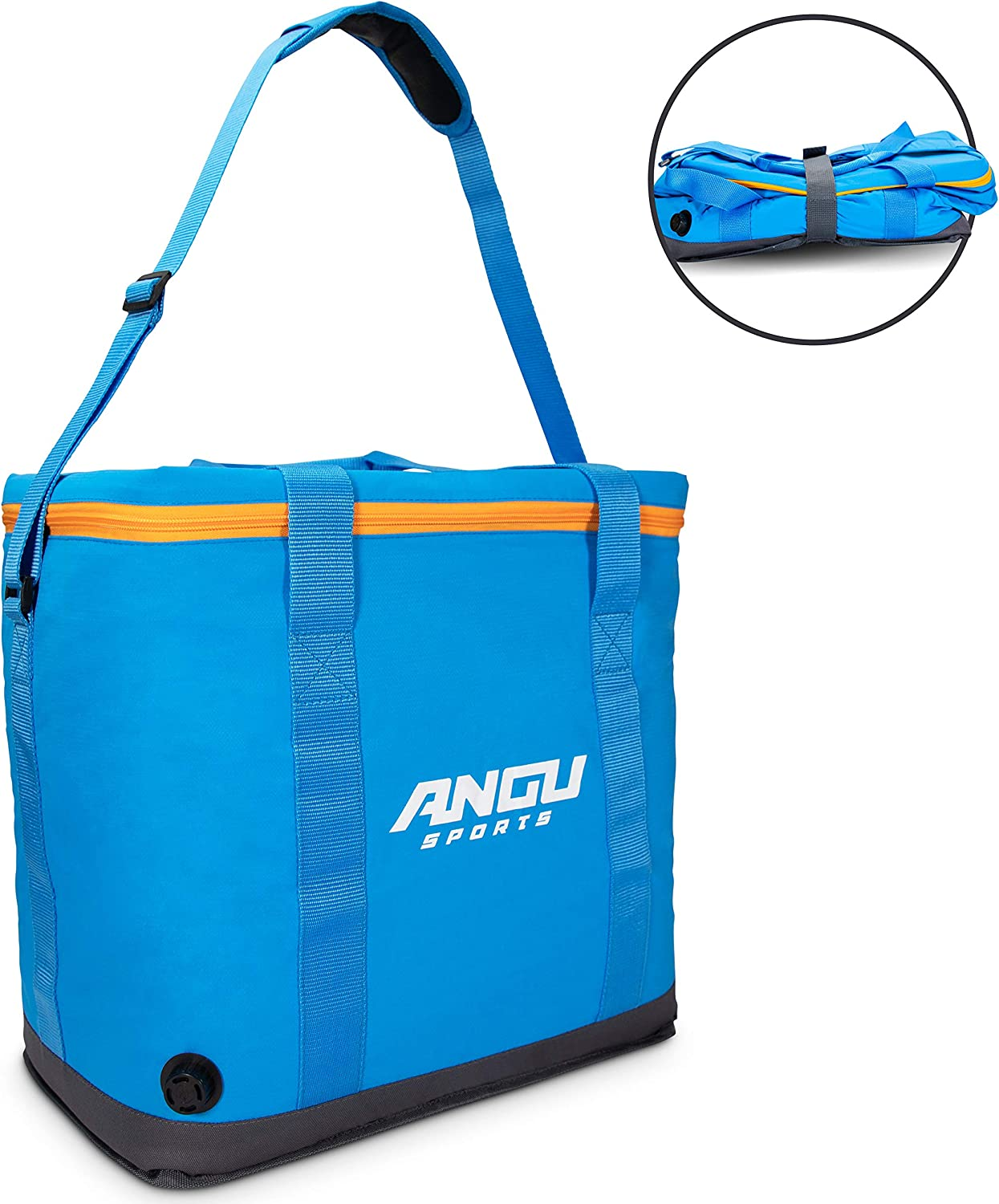 ANGUsports 30l Large Cooler Bag – Insulated Leak Proof Soft Cooler Bag Perfect for Camping, Beach, Pool, Boating, Picnic Outdoor Activities Collapsible Coolers for Travel Cooler with Handles