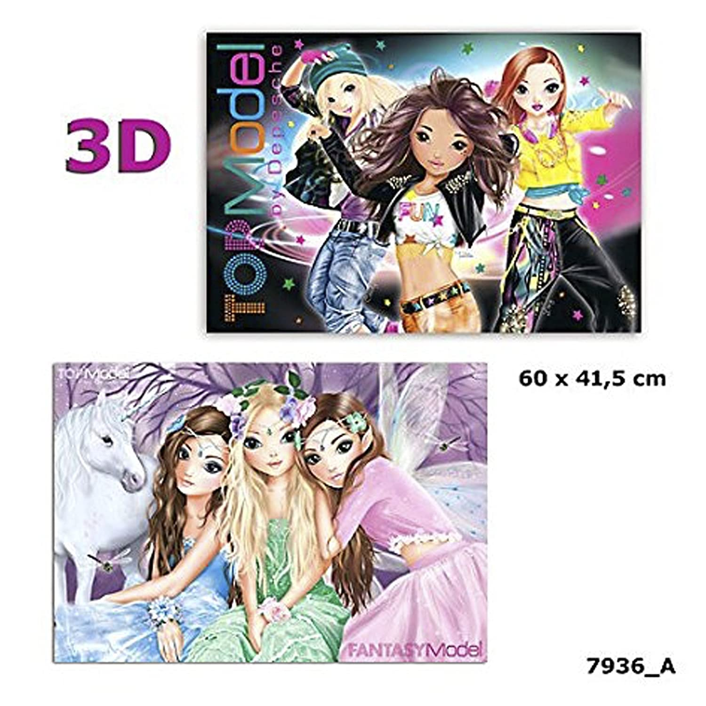 Schreibtischunterlage Topmodel Depesche 10290 mit 3D Effekt