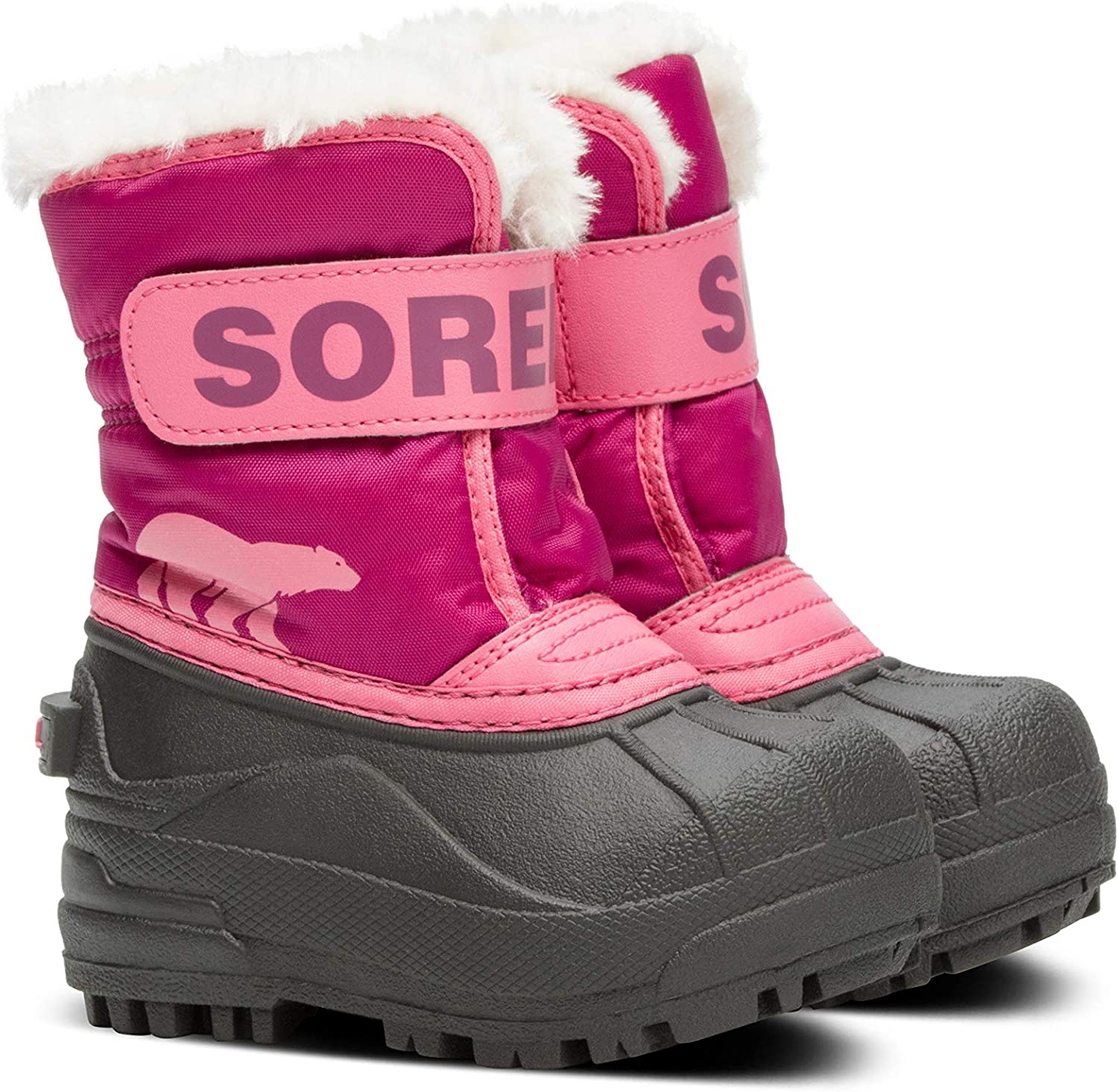 Sorel Toddler Snow Commander Boot for Rain and Snow Size 5 Waterproof Tropic Pink