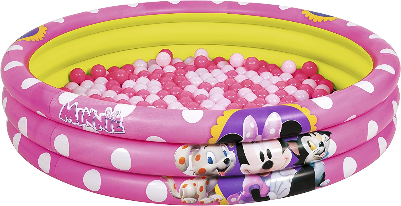 Bestway 91069 - Piscina de Bolas Hinchable Minnie Mouse Ø122x25 cm