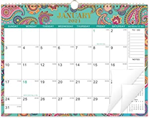 2021 Calendar - Wall Calendar 2021 with 6 Patterns,14.6'' x 11.4'', Jan. 2021 - Dec. 2021, Twin-Wire Binding Wall Calendar, Large Blocks with Julian Dates, Perfect for Easy Planning