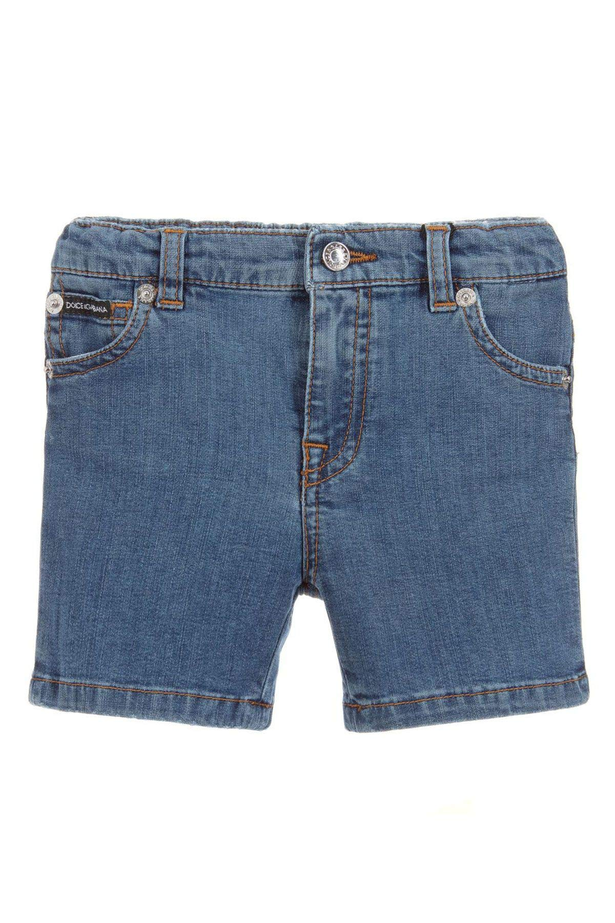 Dolce e Gabbana Baby Boys L12q38ld824b1823 Blue Cotton Shorts