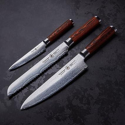 Estrella Montañista 3 cuchillos de damasco con 13 meses de ...