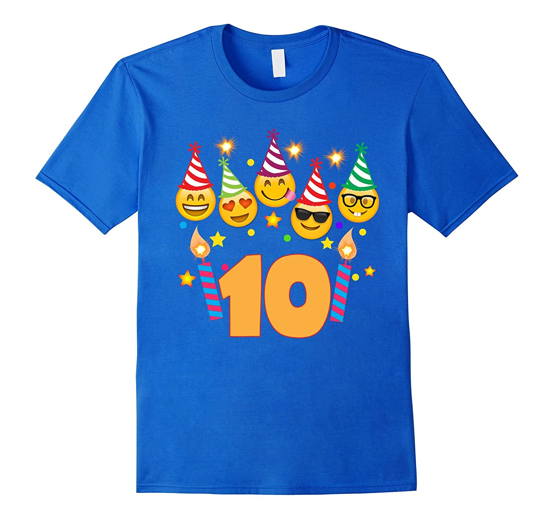 Emoji Birthday Shirt For 10 Ten Year Old Girl Boy Toddler