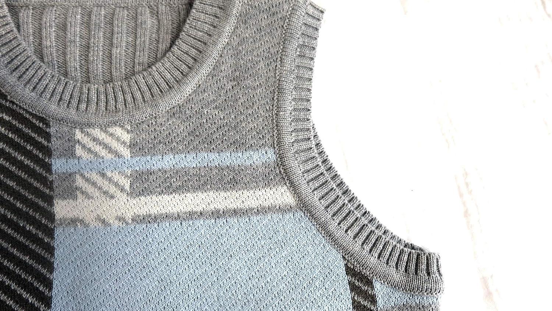 Wellwits Kids Boys Geometric Print Pullover Cotton Knit Sweater Vests 12M-7T