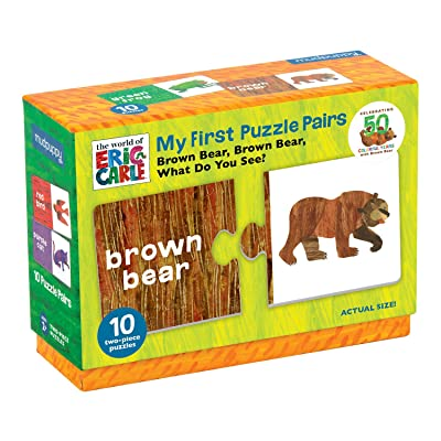 Mudpuppy The World of Eric Carle Brown Bear, Brown Bear What Do You See? My First Puzzle Pairs – Great for Kids Age 2+ - 10 Sturdy 2-Piece Puzzles – Teaches Problem-Solving, Colors, Fine Motor Skills: Mudpuppy, Carle, Eric: T [5Bkhe1906580]