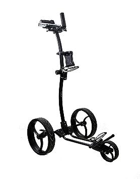Zerimar AIREL Carrito de Golf Manual Plegable | Carro de Golf 3 Ruedas | Color Negro: Amazon.es: Deportes y aire libre