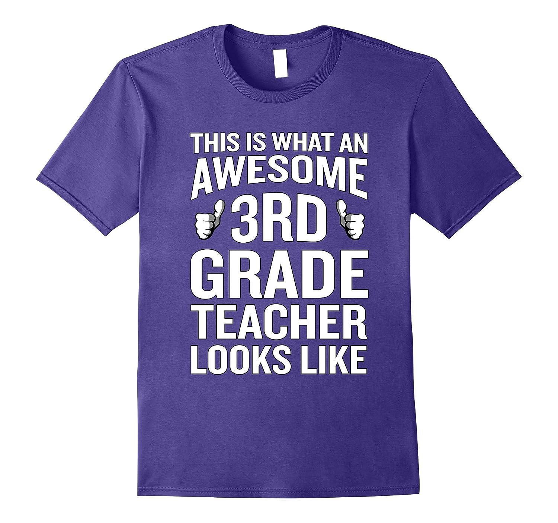 Awesome 3rd Grade Teacher Looks Like T-Shirt Funny Gift-Vaci