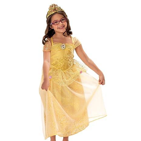 5826d228aae0 Amazon.com: Disney Princess Friendship Adventures Belle Dress 4-6x: Toys &  Games