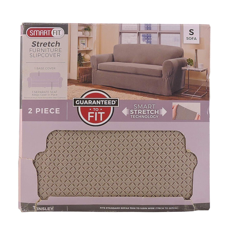 Amazon.com: Smart Fit Tinsley 2-Piece Polyester Stretch Sofa ...