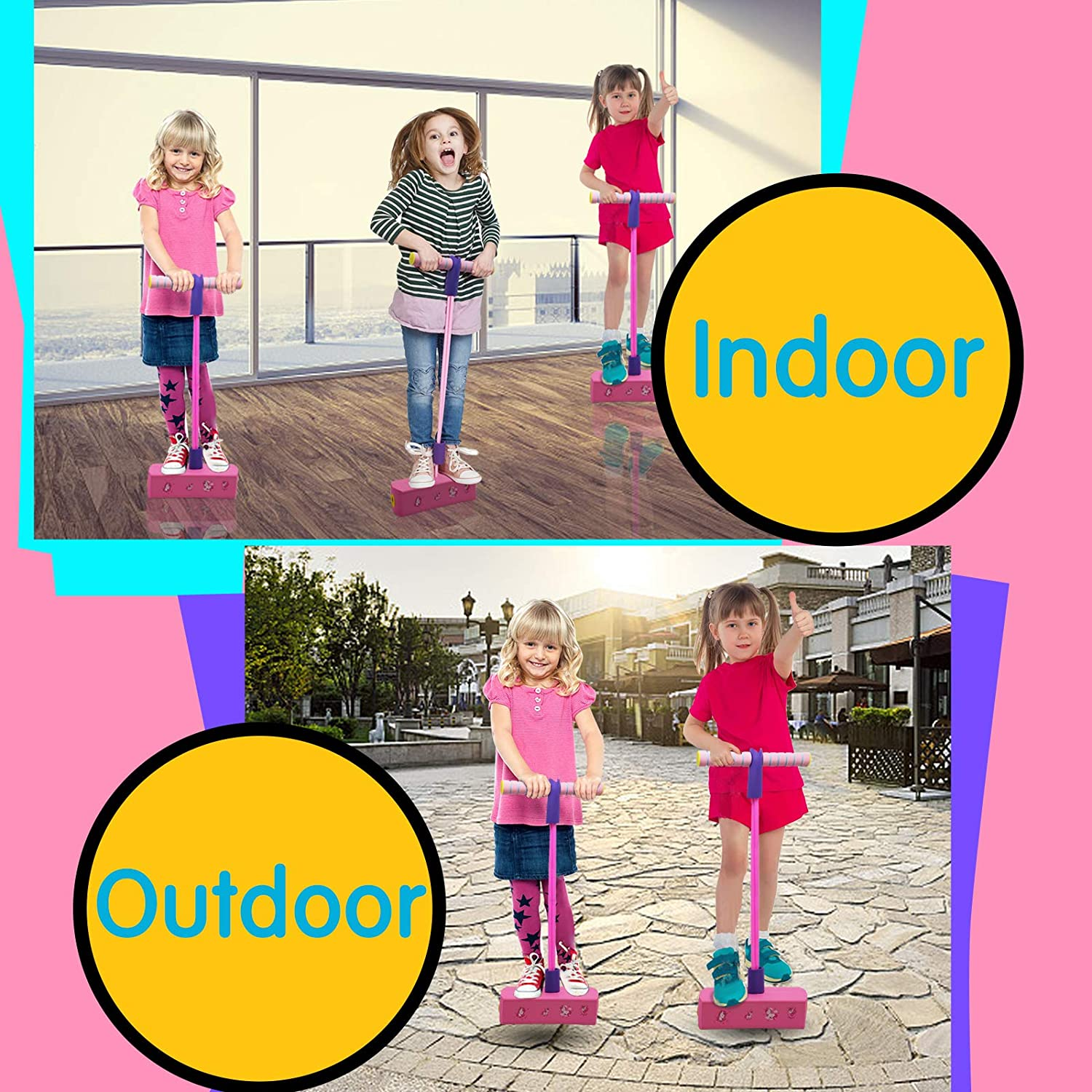Details about  /Foam Pogo Jumper Easy to Carry Safe and Fun Pogo Stick for All Kids Boys Girls
