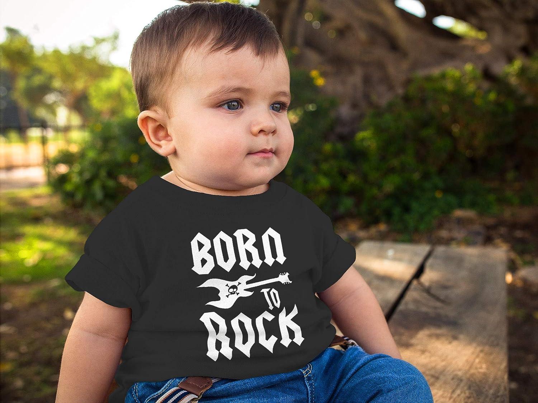 MoonWorks/® Baby T-Shirt Kurzarm Babyshirt Born to Rock Hardrock Heavy Metal Jungen M/ädchen Shirt