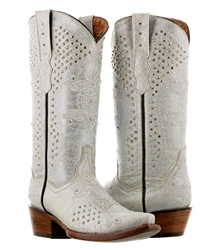 Amazon.com | Cowboy Professional Women\'s Pearl Off-White Rhinestones ...