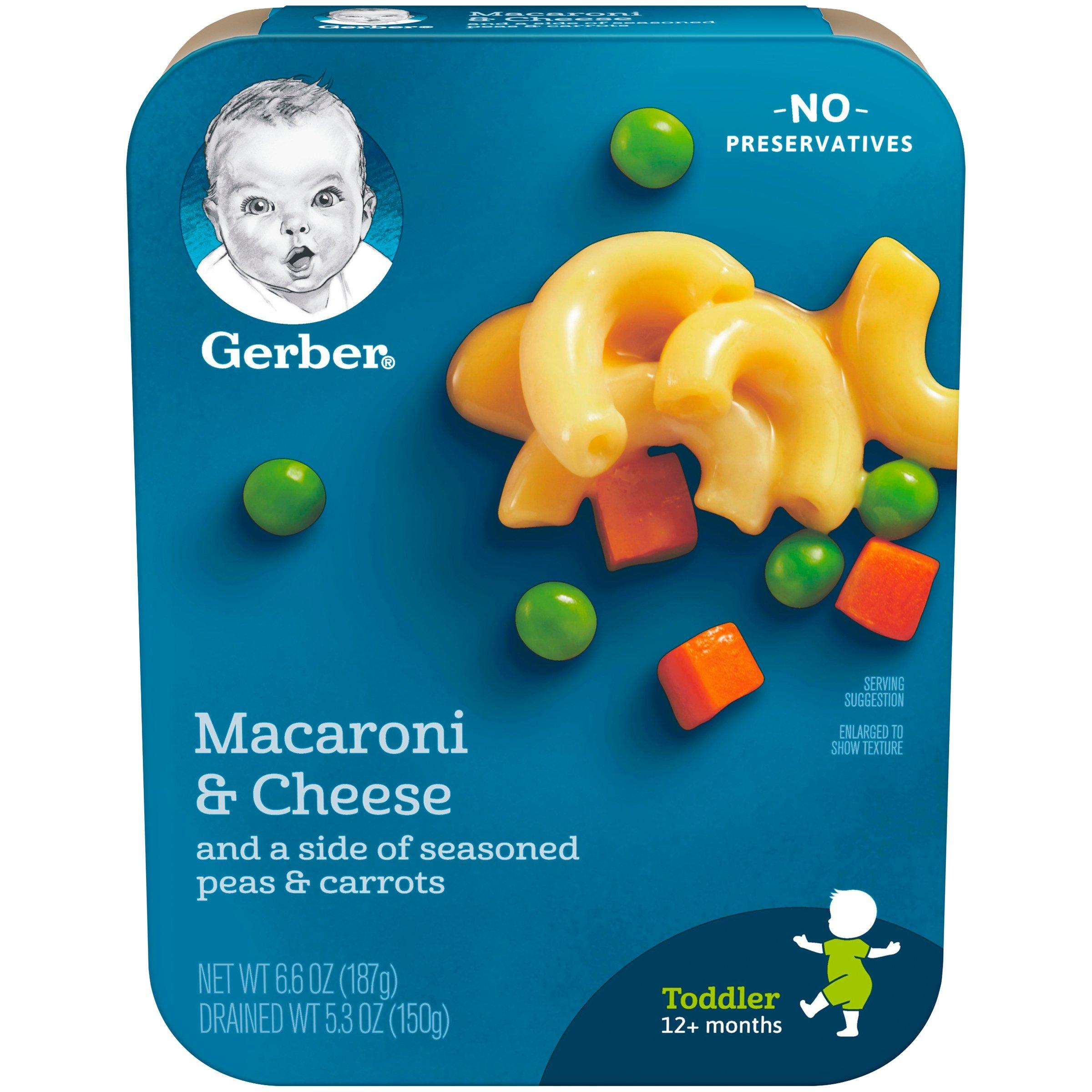 Gerber, Macaroni & Cheese, Peas & Carrots, 6.6 oz