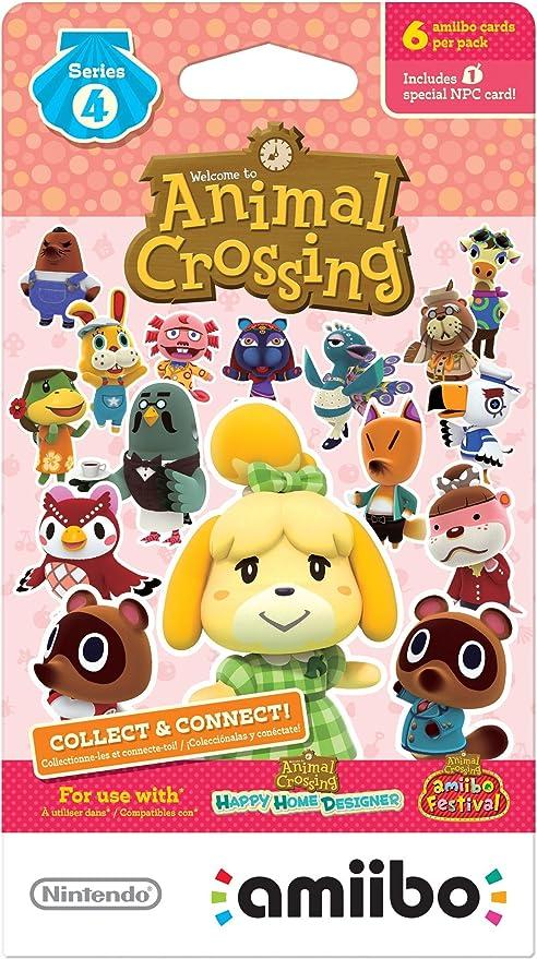 Nintendo Animal Crossing amiibo Cards Series 4 (6-Pack) - Nintendo Wii U by Nintendo: Amazon.es: Juguetes y juegos