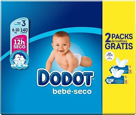 Dodot - Pañales para bebé, talla 3, 140 pañales: Amazon.es: Bebé