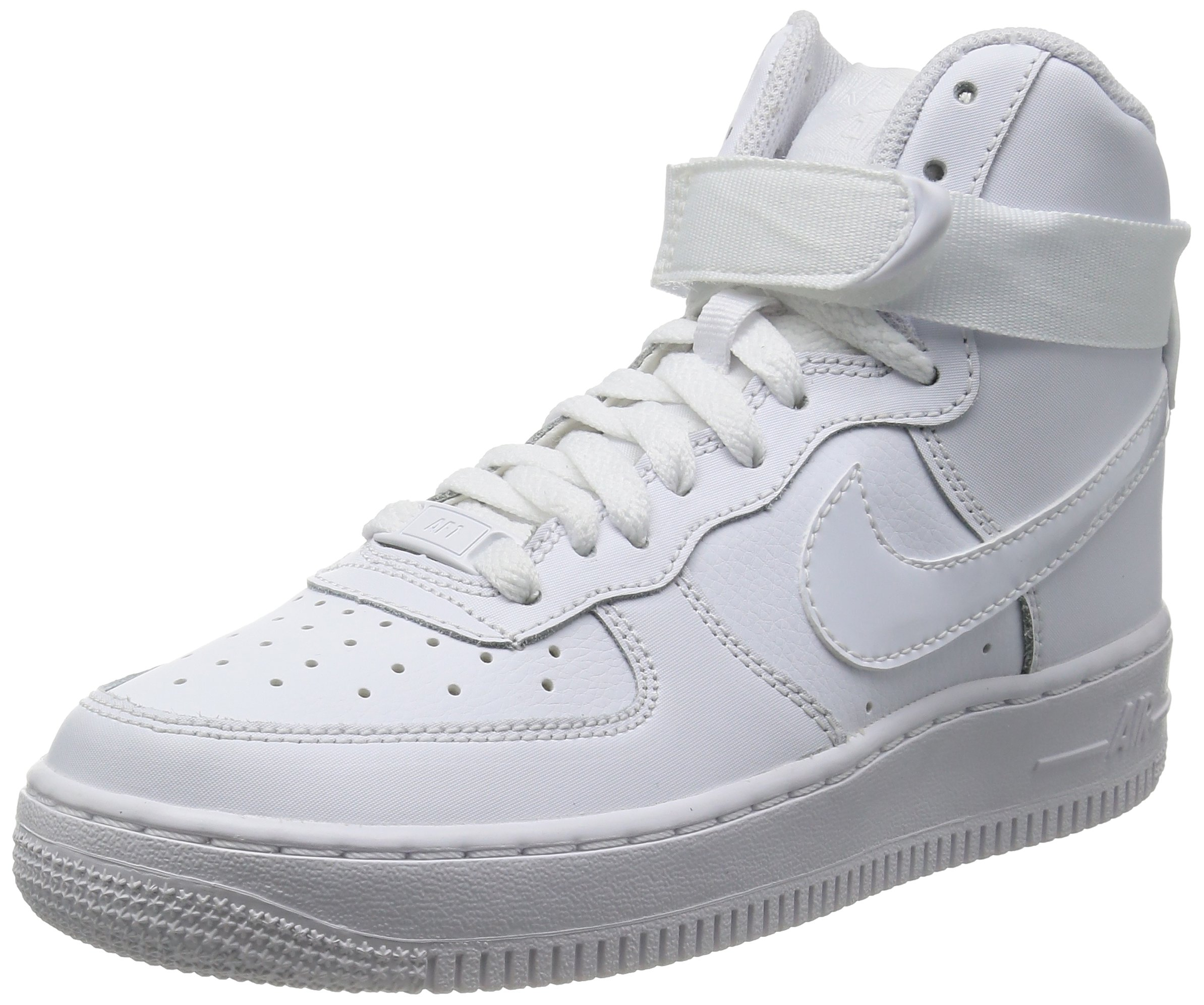 64875578a7 Galleon - Nike Air Force 1 High Big Kids Style: 653998-100 Size: 4 White