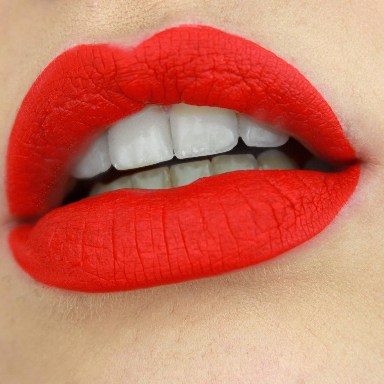 Liquid Matte Lipstick Long Lasting Highly Pigmented Lip Gloss Cruelty-Free & Paraben Free by Mynena - Angelina