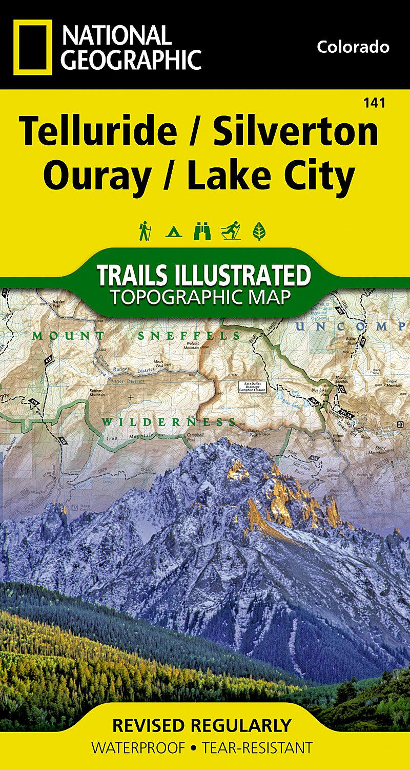 Telluride, Silverton, Ouray, Lake City (National Geographic Trails Illustrated Map) pdf epub