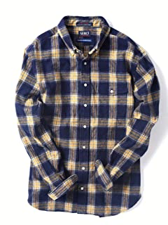 Flannel Buttondown Shirt 121-13-0082: Navy