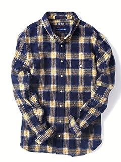 Flannel Buttondown Shirt 121-13-0082: Navy