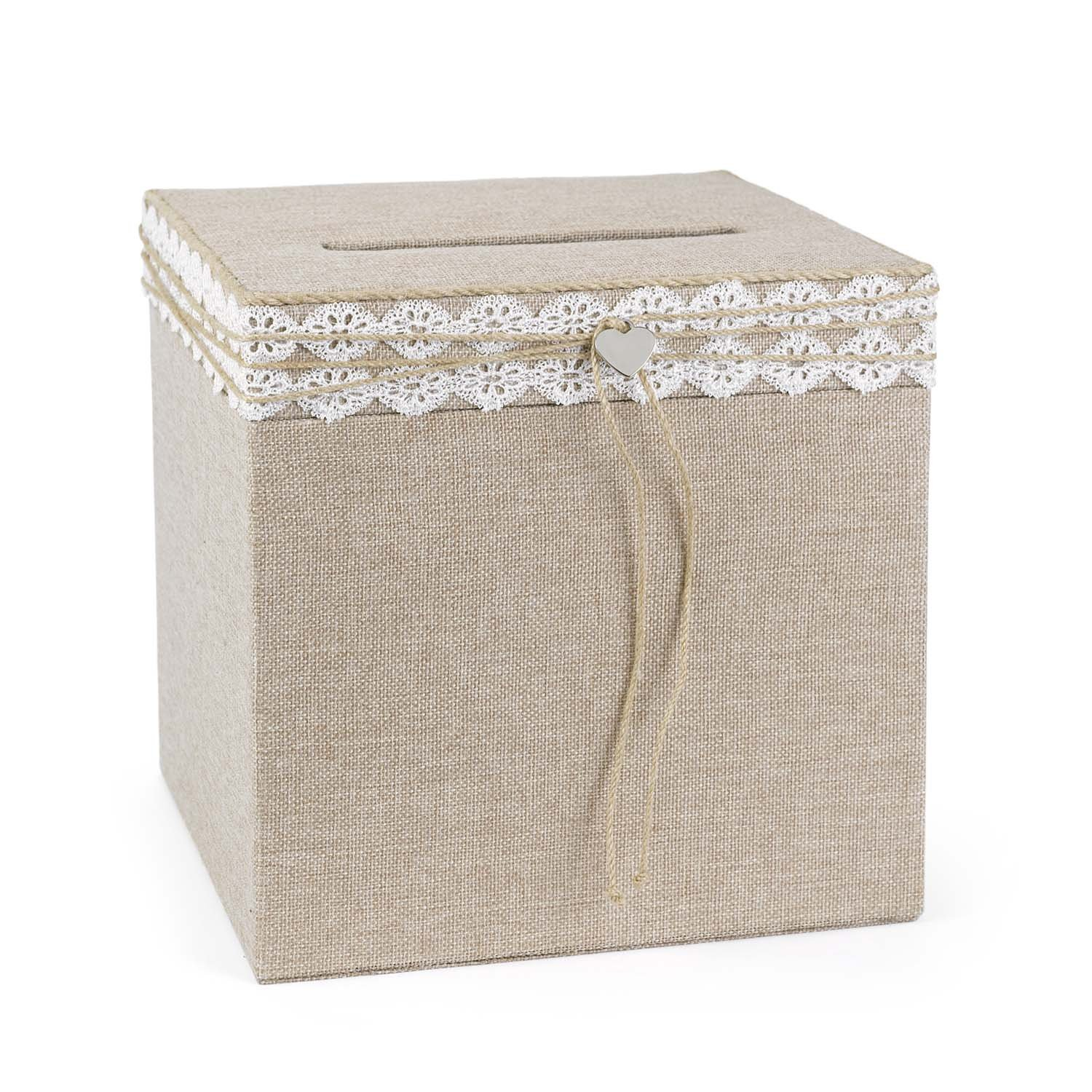 Hortense B. Hewitt 24390 Wedding Accessories Rustic Romance Card Box, Natural