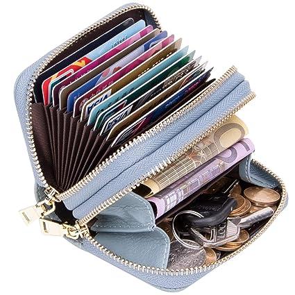 ENONEO Tarjetero para Tarjetas de Credito Mujer Hombre RFID Monedero Tarjetero Mujer Cuero Pequeños con 13 Ranuras para Tarjetas y 2 Ranuras de Moneda ...