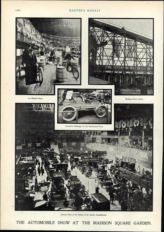 Amazon com: Automobile Show Madison Square Garden Race cars 1900